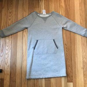 Crewcuts silver sweatshirt dress.